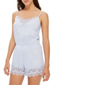 TopShop Lace Teddy Romper Light Blue Size 6 $60